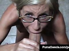 Euro porn desi movie female vigina muth Puma Swede Gets Milky Glasses After Blow Job!