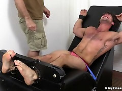Hairy Hunk Aspen Tied Up and Tickled