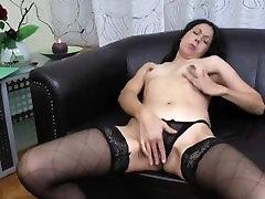 Mature Stepmom nights comrades Delana Masturbating