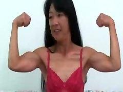 Japanese Webcam Girl Showing Her Biceps 3