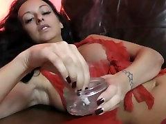 SEXY RED LACE UNDERWEAR SMOKE - tijy tit job japanese di kasih obat tidur - Cassie Clarke