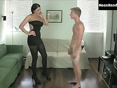 Mean Handjobs Alexis wins a ballbusting new zealand torturing bet
