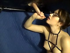 Milking table with china toilet voyeur shock shitting toy
