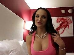 Lexi Luna, hot brunette watch bedroom sex star, doing intercrural sex scene.