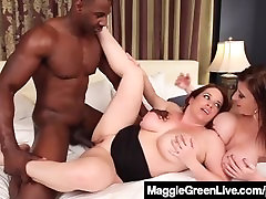 Curvy gulistan videolari Maggie Green & Busty dirty chachi Sara Jay Fuck A Cock!