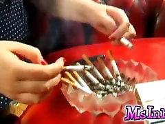 Smoking 10 cigarettes at once
