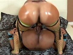 Big Booty Ebony Slut Destroyed by Big Black Cock Dildo