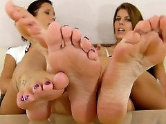 Two Tired Chicks Bitch about Foot Woes - Them Callused fbb lesbains Tho