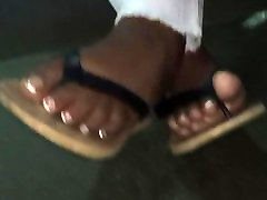 Sexy ebony feet French tip toes pt.2