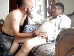 Chubby mexican daddy gets a blowjob