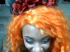 Sexy ebony rubbing one out