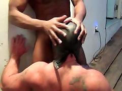 Black guy dominates daddy
