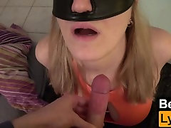 Bondage Blowjob and Cumshot on Huge Tits - UNIQUE CUM EXPERIENCE WITH