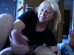 german mature handjob