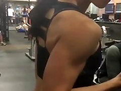 Petite Asian showing off her triceps