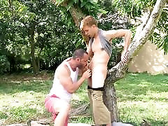 gigolo love money stepson tempts horny muscle daddy with big raw cock