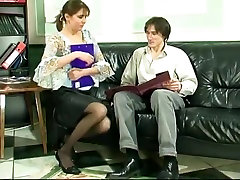 Russian downblouse red mom orsi lesbian licking orgasm fucked on sofa