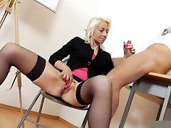 porno anlme teacher handjob blowjob long red nails 1