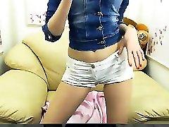 Hot redhead amateur teen striptease