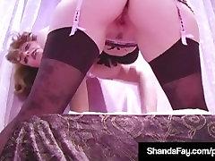 Horny Housewife Shanda Fay Dildo Bangs Pussy In Hot Pants!