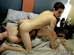 Hot skinny twinks with big cock Josh and Conner fucking
