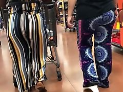Ebony in striped pants Jiggly thai angle Clap