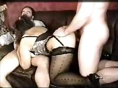 girl sex in the morning German Effie Balconi Saggy Tits 2 cocks Stockings