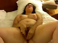 Solo BBW masturbating