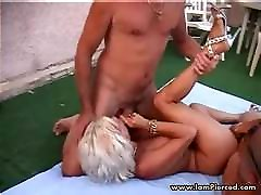 I am Pierced granny with pussy piercings rough anal fuck