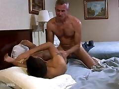 Latin boy pussy wrecked by thick dad cock