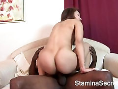 Young Ebony screwed by a big cock