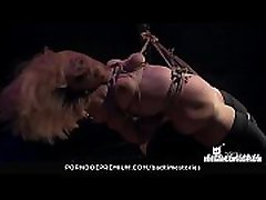 BADTIME STORIES - Obedient German blonde slave tortured in intense BDSM session