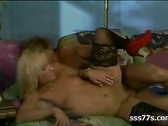 BLONDE yoga teacher with old uncle FUCKE IN STOCKING