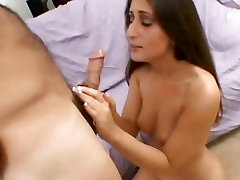 Bubble butt Latina Luscious Lopez jams mouth and pussy with rock hard cock