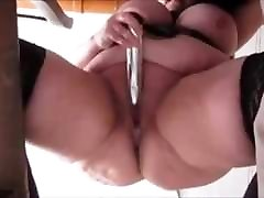 Brunette cumshot amateurs babe Squirts with dildo as seen from below 1