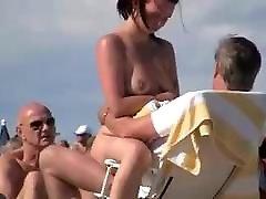 Nude Beach - Trophy Wife Showoff & Dogging -Filmed by Voyeur