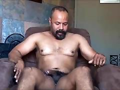 nice puhdi frst time sex Muscle Daddy Jerk Off & Cum in Chair