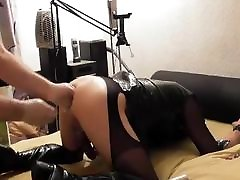Fucking, pissing on and fisting Crossdresser Slave Part 4