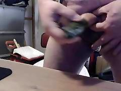 Cum on food - CuCUMber fuck