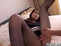 Breathtaking older spreads her legs and gets pussy fingered
