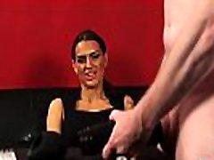 British femdom instructs sub to ass gag w toy