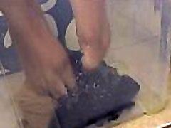 Pissing on Nylon Stockings