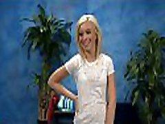 Hot eighteen girl gets screwed hard by her massage therapist