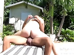 Biaggi Breeds and Creampies Brian in Hard Sex by the Pool