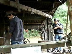 Latino gay cowboys barebacking