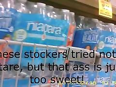 Having fun grocery shopping