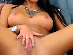 Hot Sexy Brunette Strokes her Tight Pussy