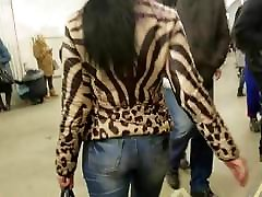 MILF with sexy ass in jeans