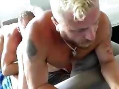 Big brutes orgasm in throat fuck