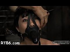 Beautiful slaves are tied and given hardcore bdsm punishment
